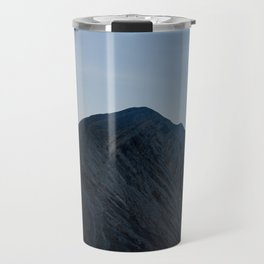 Walking on the edge of Bromo Travel Mug