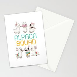 Alpaca Squad Stationery Cards