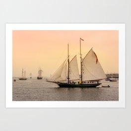 Morning of Glory 2 - Sail Boston 2017 Art Print