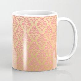 Modern vintage pink faux gold floral damask Coffee Mug