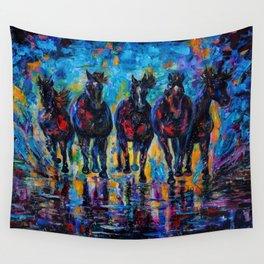 Roaming Free by OLenaArt/ Lena Owens Wall Tapestry
