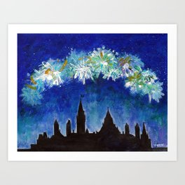 Canada Day #Blue Art Print