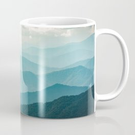 Turquoise Smoky Mountains - Wanderlust Nature Photography Coffee Mug
