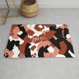 Rusted Paint Abstract Rug