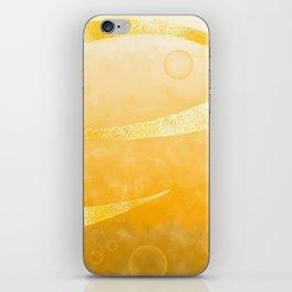 Orange ribbon abstract art design iPhone Skin