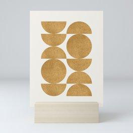 Gold Retro Scandinavian - Mid Century Modern Mini Art Print