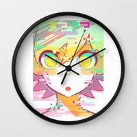 glitch Wall Clocks featuring ♢GLITCH♢ by XENVITA