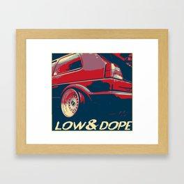LOW&DOPE VW GOLF 2 Framed Art Print