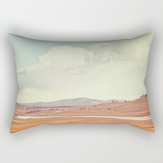 Summer Landscape Rectangular Pillow