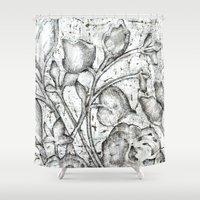 lace Shower Curtains featuring Lace by Irina  Mushkar'ova