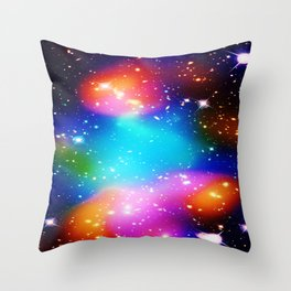 Bright Merging Galaxy Cluster Abell 520 Throw Pillow