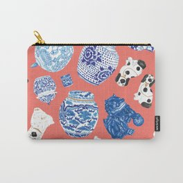 Chinoiserie Curiosity Cabinet Toss 3 Carry-All Pouch