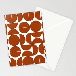 Burnt orange mid century moderna Stationery Cards