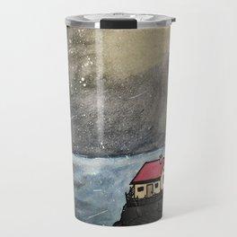 Light House at Night Travel Mug