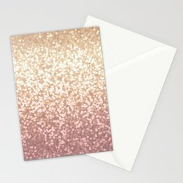 Champagne Gold Blush Pink Glittery Ombre Pattern #society6 Stationery Cards