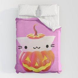 Pumpkin Cat Duvet Cover