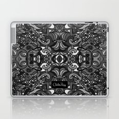 Parti Gras Black and White Laptop & iPad Skin