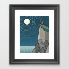 House on a Cliff Framed Art Print
