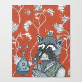 Rusty Raccoon Rings In Canvas Print