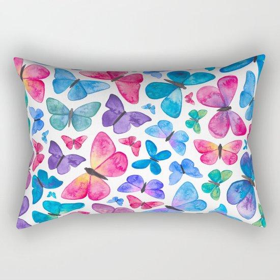 Watercolour Butterflies Rectangular Pillow