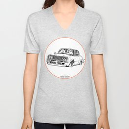 Crazy Car Art 0219 Unisex V-Neck