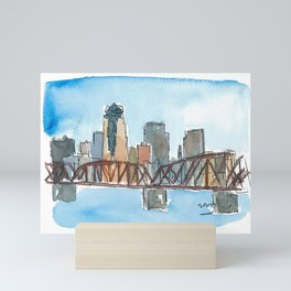 Shreveport Louisiana Skyline at Sunset Mini Art Print