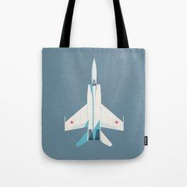 MiG-25 Foxbat Interceptor Jet Aircraft - Slate Tote Bag