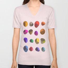 Painted Pebbles 2 Unisex V-Neck