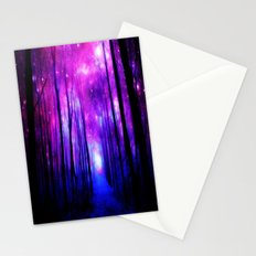 Magical Forest Path Fuchsia Purple Blue Stationery Cards