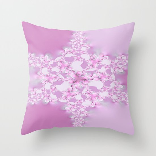 Floral Star  Throw Pillow