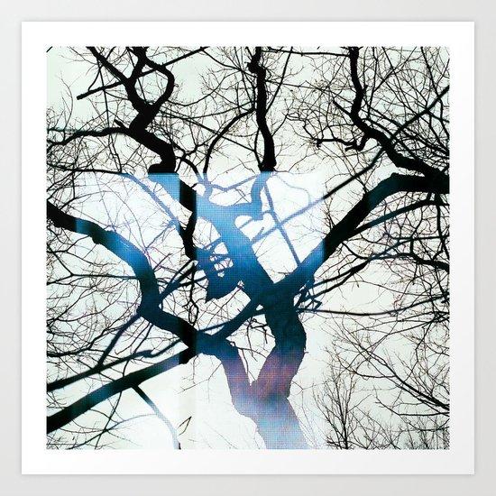 I can see windows through the trees Art Print