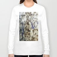 marble Long Sleeve T-shirts featuring Marble by Catherine1970