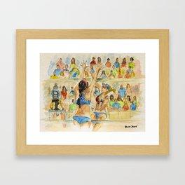 Kerri Walsh Jennings - Pro Beach Volleyball player Framed Art Print