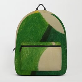 Cala Lily On Abstract Background Backpack