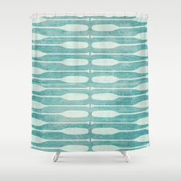 Vintage Coast Boat Paddles Shower Curtain