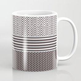 Ikat Chocolate Chevron Coffee Mug