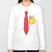 pocket Long Sleeve T-shirts featuring POCKET by AndrewYeungIllustration