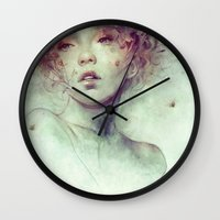 kpop Wall Clocks featuring Swarm by Anna Dittmann