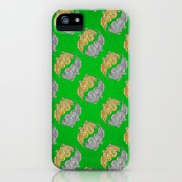 Gold and Silver Dragons of the Jade Palace iPhone Case