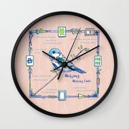 Lovely Sparrow - Mahjong Wall Clock