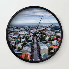 Colors of Ice Wall Clock