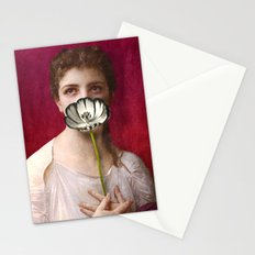 Lady with tulip Stationery Cards