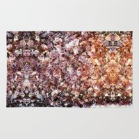 geode Area & Throw Rugs featuring Amethyst Geode Up Close by 319media