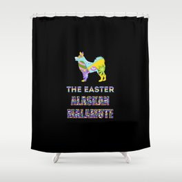 Alaskan Malamute gifts   Easter gifts   Easter decorations   Easter Bunny   Spring decor Shower Curtain