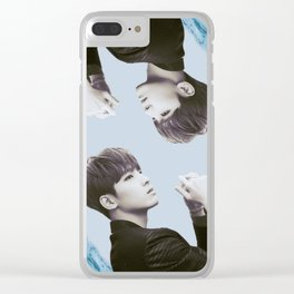 Double Wonwoo Clear iPhone Case