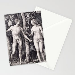Adam and Eve by Albrecht Dürer Stationery Cards