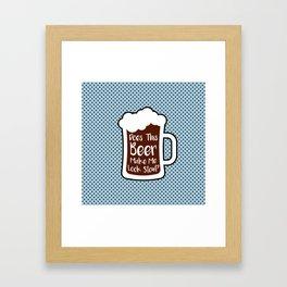 Beer Stout Framed Art Print
