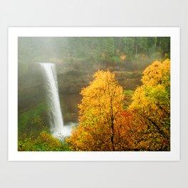 Waterfall into Fall Art Print