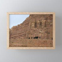 Temple facades Petra Jordan Framed Mini Art Print