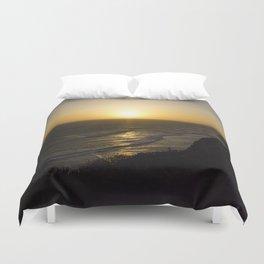 Cliff Top Sunset Duvet Cover